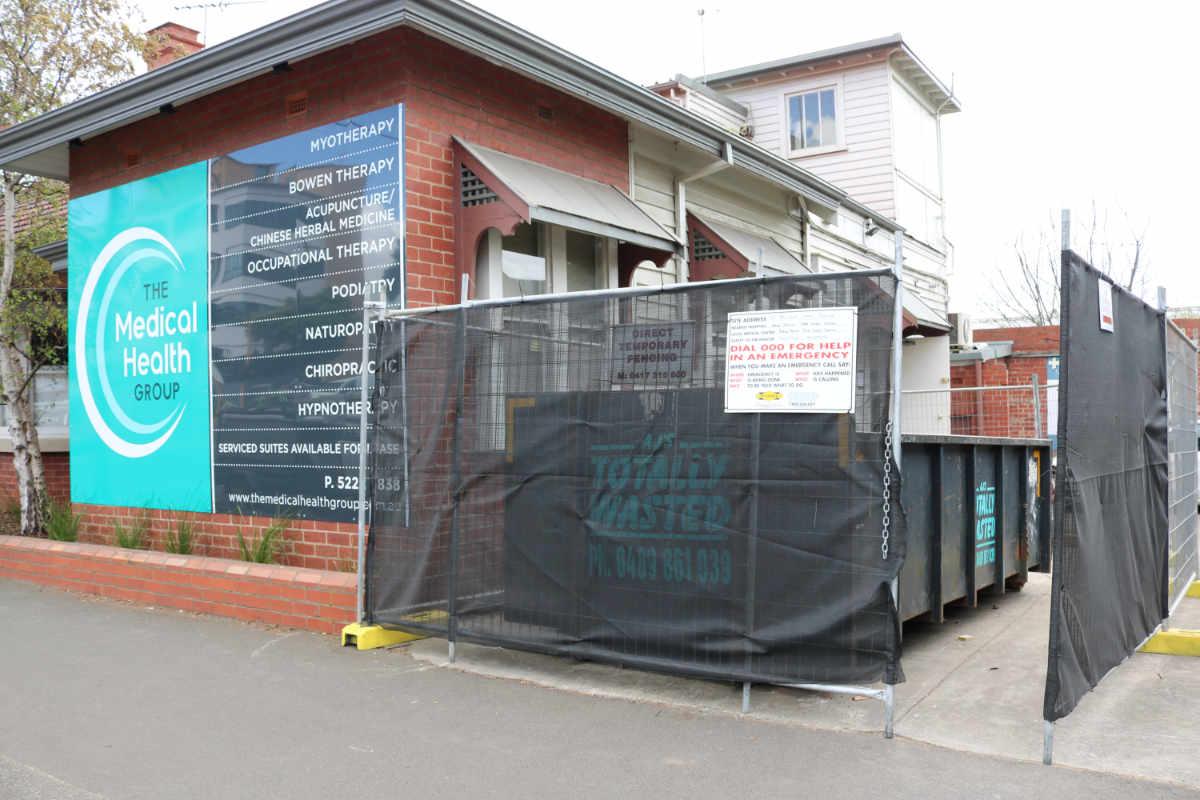 Skip Bin In Geelong City Centre